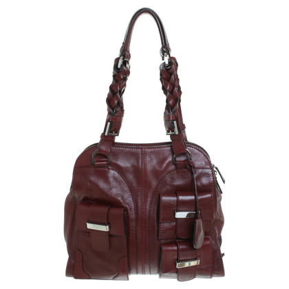 Pollini Leather handbag in Bordeaux