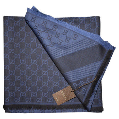 Gucci Guccissima doek in donkerblauw