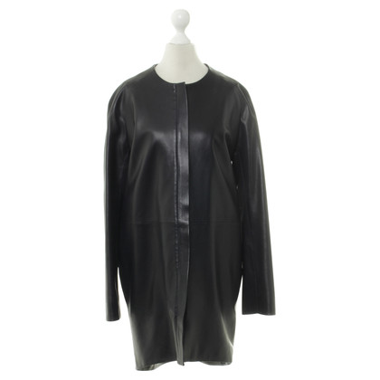 The Row Short coat made of leather
