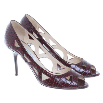 Jimmy Choo Peep-toes in Bordeaux
