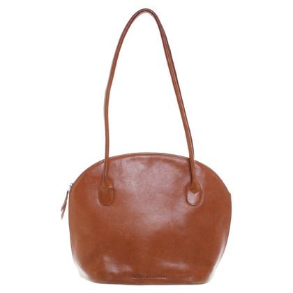 René Lezard Cognacfarbene Handtasche