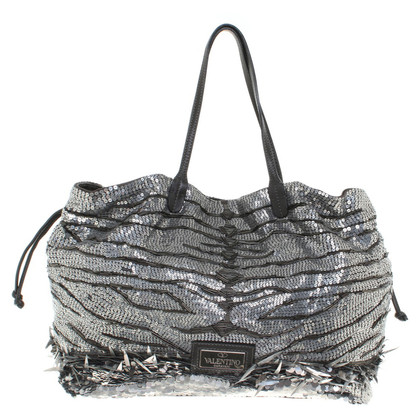 Valentino Shopper with sequin trimming