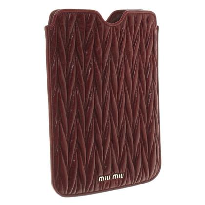 Miu Miu iPad mini fodero a Bordeaux