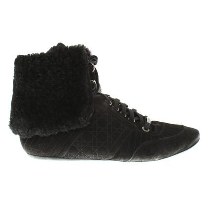 Christian Dior Veterschoenen in zwart