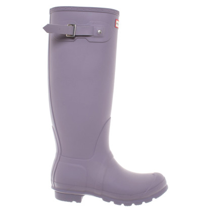 Hunter Wellington boots in taupe