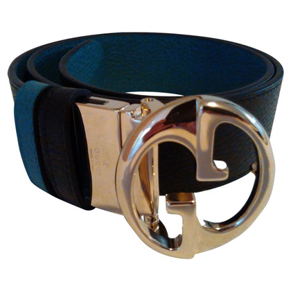 Gucci reversible belt with gold clasp