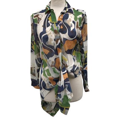 MSGM Zijden blouse met patroon