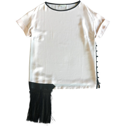 Dries van Noten Top in seta con frange