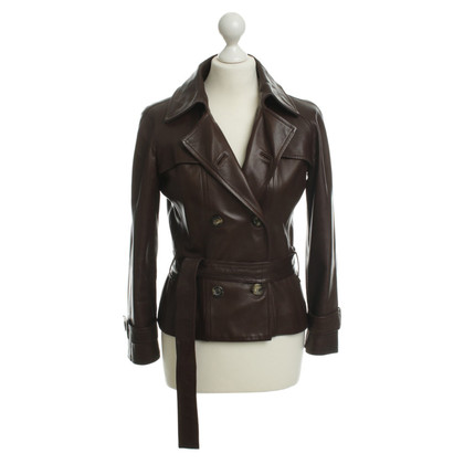 Céline Leather jacket in Brown