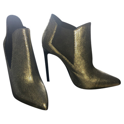 Yves Saint Laurent Gold ankle boots