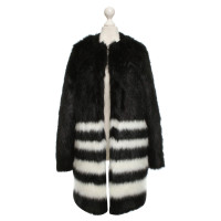 Michael Kors Webpelz-Jacke in Bicolor