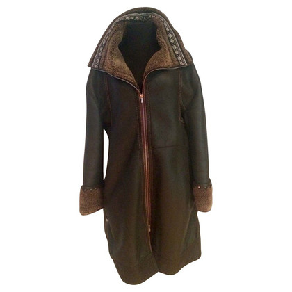 Marithé et Francois Girbaud Leather coat