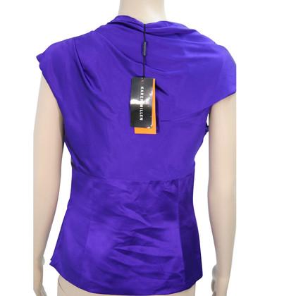 Karen Millen Silk top in violet