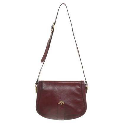 Aigner Leather handbag in Bordeaux