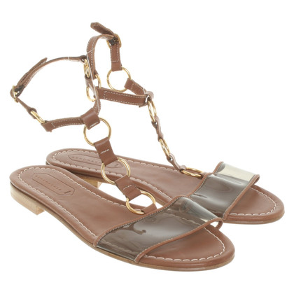 Schumacher Sandals with transparent insert