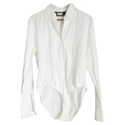 DKNY DKNY White Cotton Body-Shirt