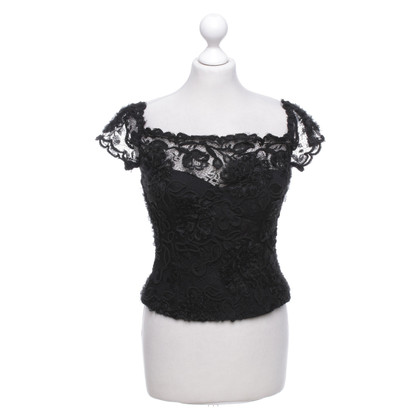 Chanel Corsage in pizzo nero
