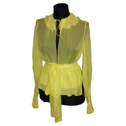 Aigner Zijden blouse in het geel