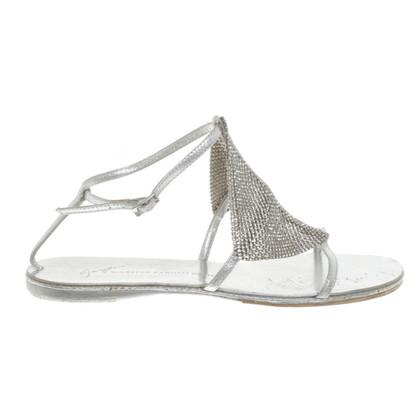 Giuseppe Zanotti Silver colored sandals