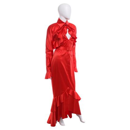 Karl Lagerfeld Kleid & Jacke in Rot