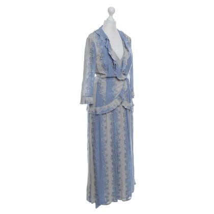 Rena Lange Tweedelig jurkje blauw / wit