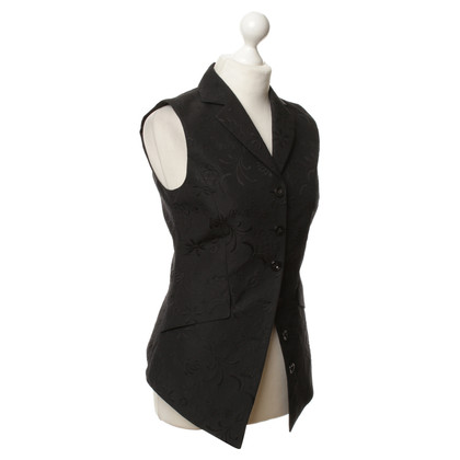 René Lezard Vest in black