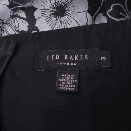 Seidenkleid mit Seidenkleid Baker Print Print mit Muster Bunt Ted Ted Baker rppnYEaqA