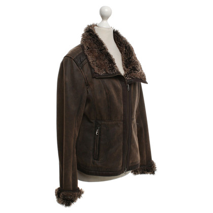 Armani Jeans Jacket made of artificial leather / woven fur