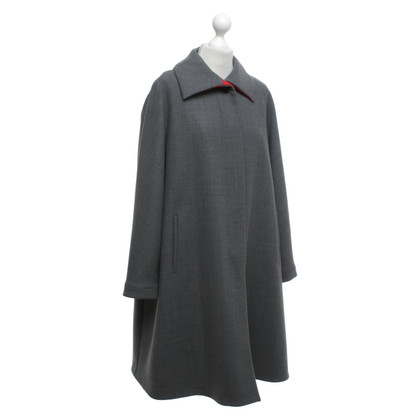 Giorgio Armani Purist coat in grey / red