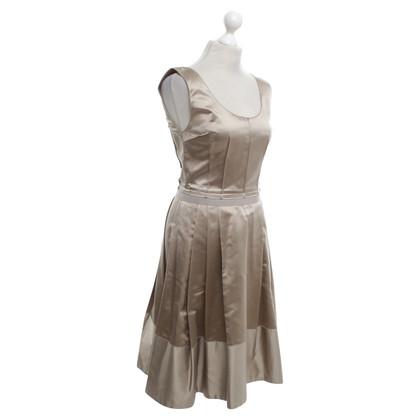 Dolce & Gabbana zijden jurk in Lichtbruin