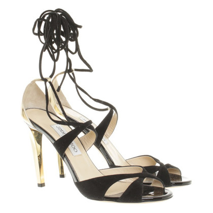 Jimmy Choo Sandali in nero/oro