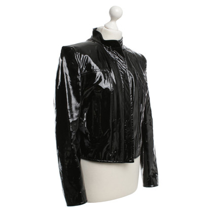 Strenesse Patent leather jacket zwart