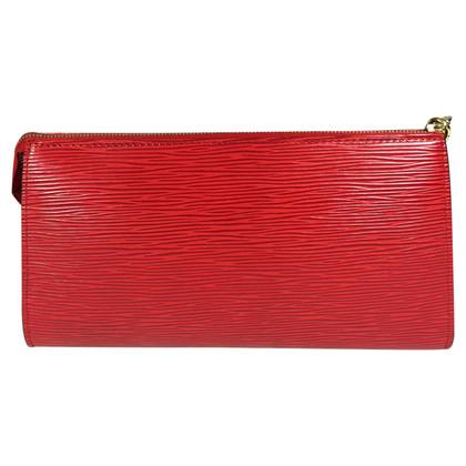 Louis Vuitton Pochette Accessories Epi Leather Red