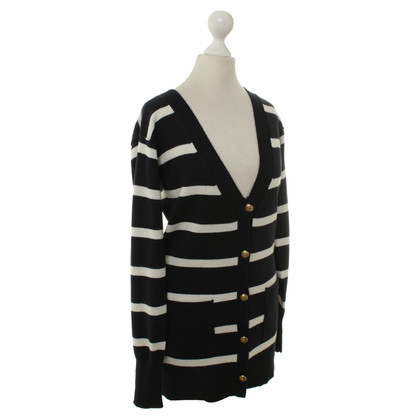 FTC Cashmere Cardigan in blue/white