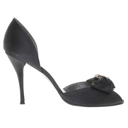 Stuart Weitzman Peep-tenen in zwart