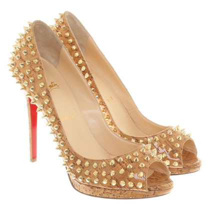 Christian Louboutin Peeptoes in Braun