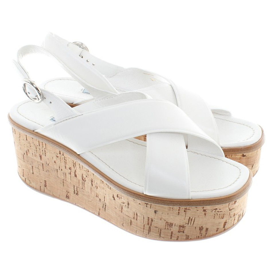 Prada Platform sandals in white