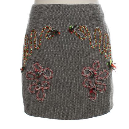 Stella McCartney Mini skirt in black and white