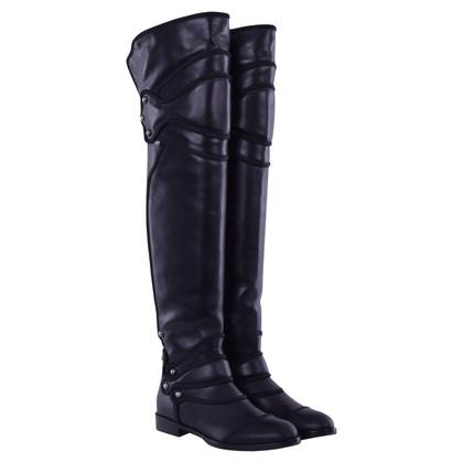 Dolce & Gabbana Flat lieslaarzen zwart