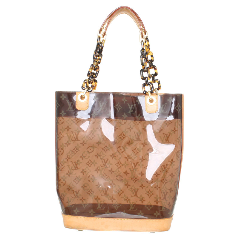 louis vuitton transparente tasche mit monogram print second hand louis vuitton transparente. Black Bedroom Furniture Sets. Home Design Ideas