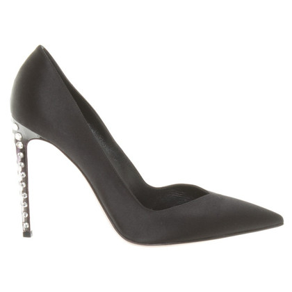 Gianvito Rossi Satin pumps in black