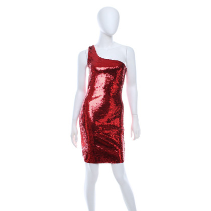 Saint Laurent Sequin dress in red