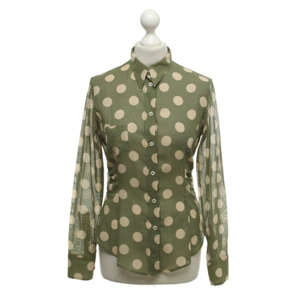 Paul Smith Olive blouse with polka dots