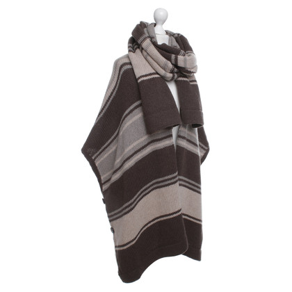 Max Mara Striped Knit Poncho