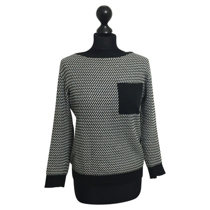 Stefanel Sweater in black / white