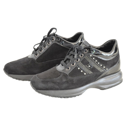 Hogan Sneaker suede patent leather Swarowski