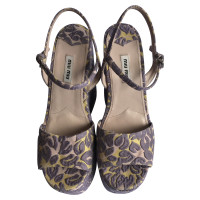Miu Miu Colourful jacquard Miu Miu sandals