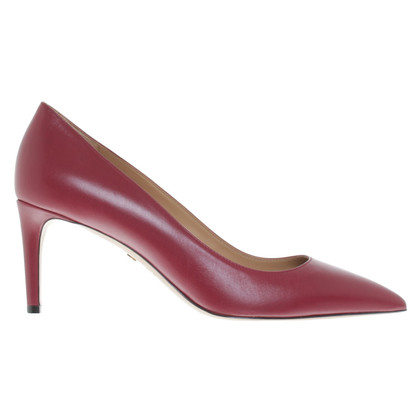 Bally pumps in bordeaux red