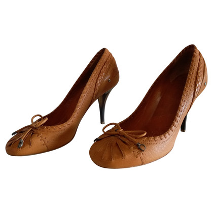 Christian Dior DIOR BRAND SHOES IN LEATHER BROWN