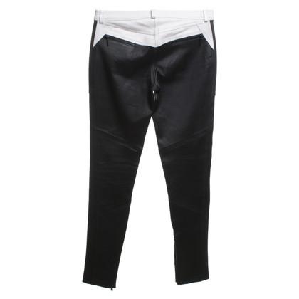 Karl Lagerfeld pantaloni di pelle in bianco / nero